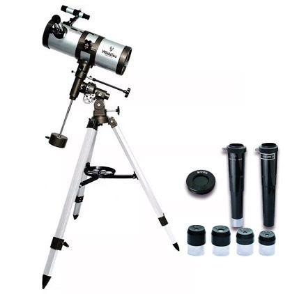 Telescopio Reflector Wildstec 1000×114 se entrega con estos accesorios