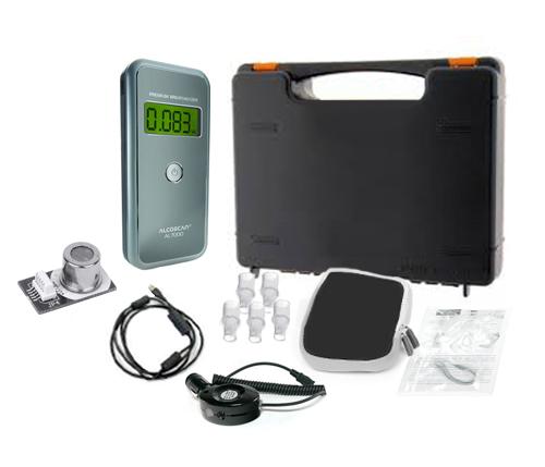 Combo Alcoholímetro AL7000 + Sensor Intercambiable se entrega con estos accesorios