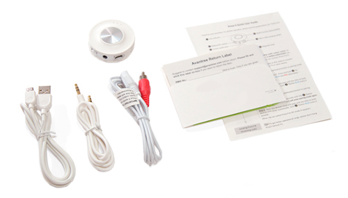 Transmisor de Audio Bluetooth Avantree Priva II se entrega con estos accesorios