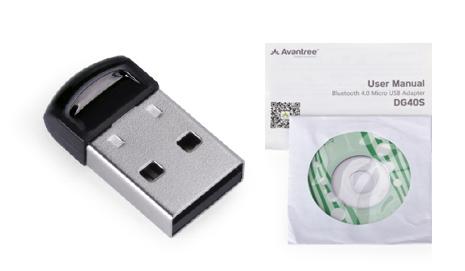 Adaptador Bluetooth 4.0 Avantree se entrega con estos accesorios
