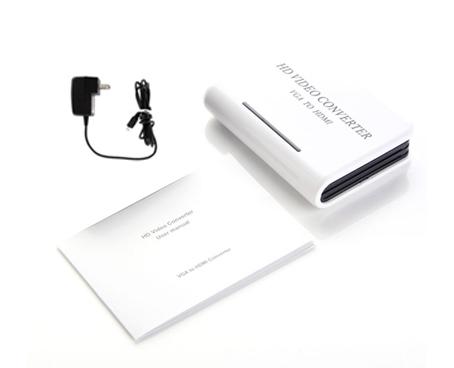 Conversor de VGA A HDMI se entrega con estos accesorios