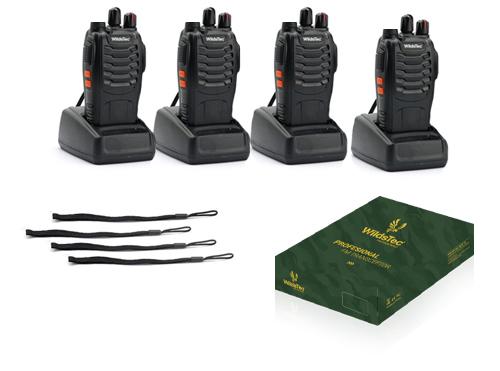 Kit x 4 Handies Wildstec WD-20 se entrega con estos accesorios