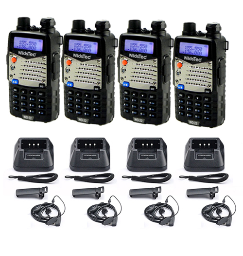 Kit x 4 Handies Wildstec WD-22 se entrega con estos accesorios