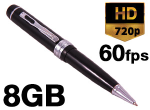 Lapicera Profesional Detective Pro 720P 8GB