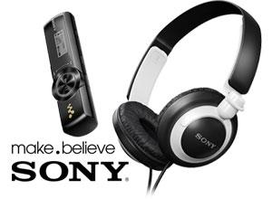 Combo Mp3 + Auricular Sony