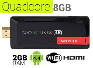 Mini TV BOX Android Gadnic | TX-500  QuadCore 8 GB