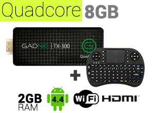 KIT Mini PC GADNIC | TX-300 8GB + Teclado inalámbrico