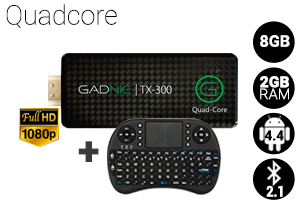 KIT Mini PC GADNIC | TX-300 8GB + Teclado inalámbrico