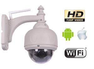 Cámara Seguridad P2P | IP | Wifi | Domo Motorizado Exterior