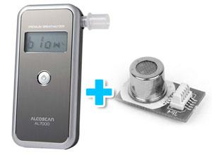 Combo Alcoholímetro AL7000 + Sensor Intercambiable