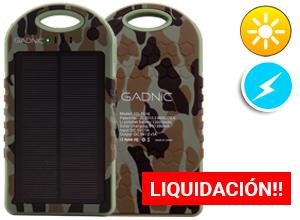 Cargador Solar Gadnic 12000 mAh Waterproof