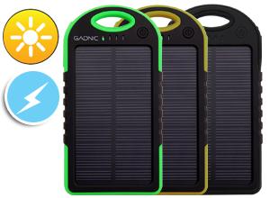 Cargador solar Gadnic 5000 mAh Waterproof