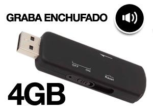 Pendrive Espía Grabador de Voz 4GB