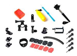 Kit GoPro Soportes, Adaptadores, Flotador y más