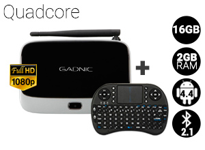 KIT TV BOX GADNIC| TX-200 Quadcore 16GB + Teclado inalámbrico