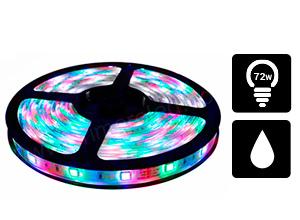 Tira de Led 5050 Exterior 60/M RGB CON SILICONA