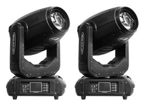 2 Cabezales Móviles de 280W 10R Prisma 3D
