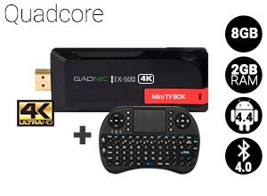 Mini TV BOX Android Gadnic | TX-500 QuadCore 8 GB + Teclado inalámbrico