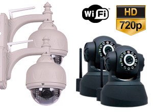 Kit Cámara Seguridad P2P |  2 Interiores + 2 Exteriores
