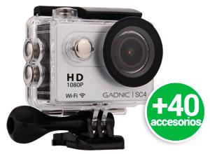 Kit | Cámara Gadnic SC4 + 40 Accesorios | FULL HD 1080p | Waterproof | 12 Mpx