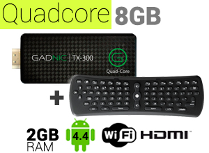 KIT Mini PC GADNIC | TX-300 8GB + Teclado inalámbrico Air Mouse