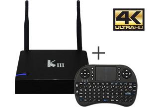 KIT TV BOX Android | KIII  4k | PentaCore | 16GB + Teclado inalámbrico
