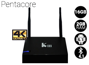 TV BOX Android | KIII  4k | PentaCore | 16GB