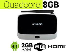 TV BOX Android | QuadCore 8GB