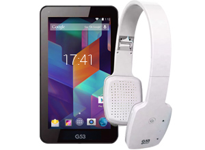 Tablet Intel 7″ G53 + Headphones Bluetooth