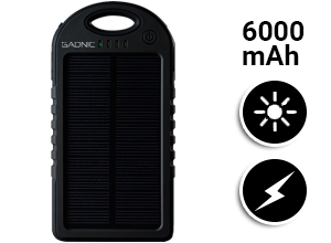 Cargador Solar Gadnic 6000 mAh Waterproof