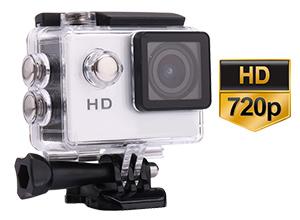 Cámara Deportiva HD 720p | Waterproof | 5 Mpx