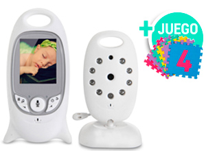 KIT | Baby Monitor 2.0″ Night Vision Temperature + Piso didáctico para chicos