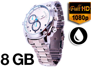 Reloj Optimus con malla de metal – Full HD- Infrarrojo – Sumergible
